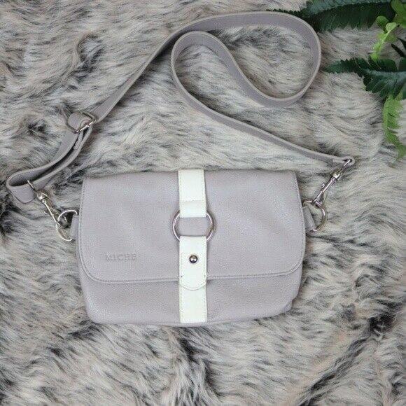 Miche Handbags - Miche Crossbody Hip Bag Gray Sm Grey White Clutch